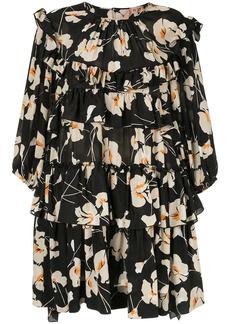 Nº21 floral ruffle mini dress