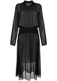 Nº21 fluid sheer midi dress