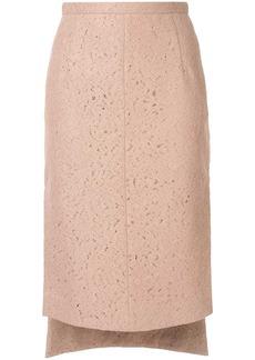Nº21 lace midi pencil skirt