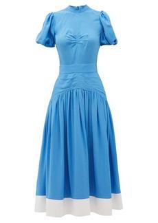Nº21 No. 21 Gathered dropped-waist crepe midi dress