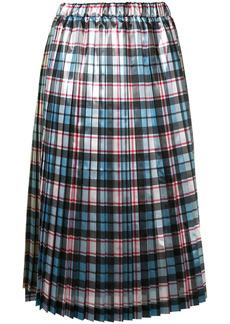 Nº21 plaid pleated skirt