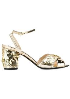 Nº21 platinum gold sandals