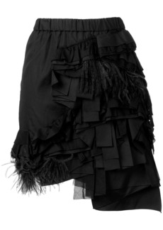 Nº21 ruffle and feather trim draped skirt