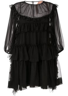 Nº21 ruffle trim mini dress