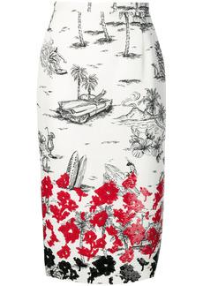 Nº21 sequin embellished pencil skirt