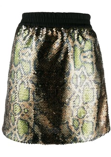 Nº21 snake print sequin skirt