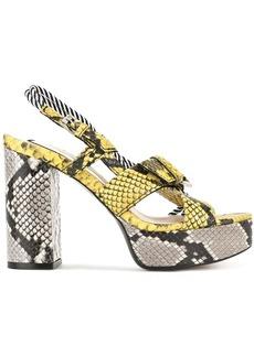 Nº21 snakeskin print sandals