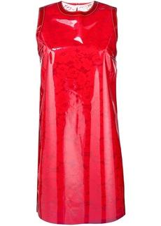 Nº21 vinyl overlay lace dress