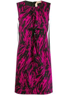 Nº21 zebra short shift dress