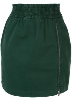 Nº21 zip detail skirt
