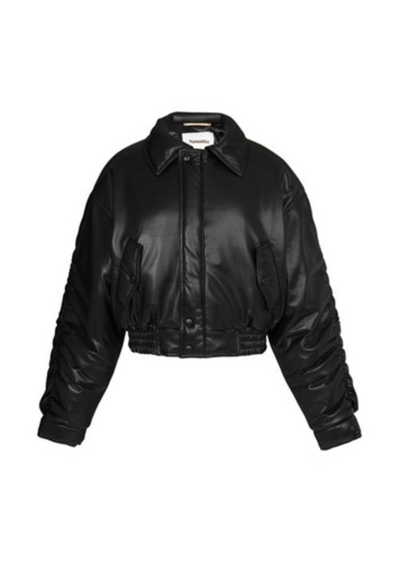 Nanushka Aida bomber jacket in vegan leather