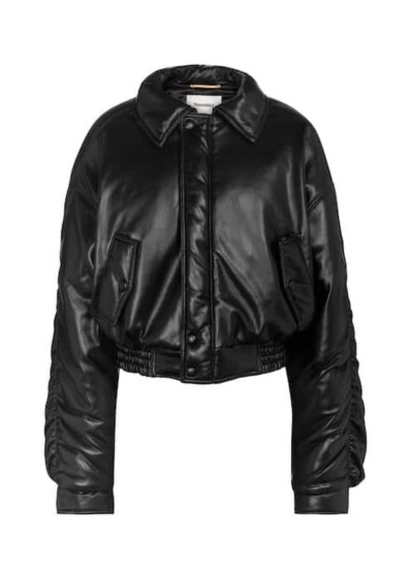Nanushka Aida faux leather bomber jacket