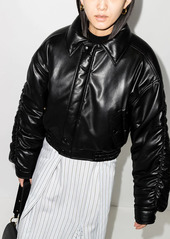 Nanushka Aida ruched bomber jacket