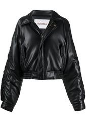 Nanushka Aida vegan leather bomber jacket