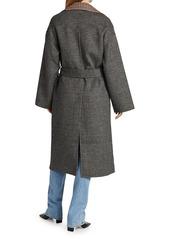 Nanushka Alamo Reversible Check Coat