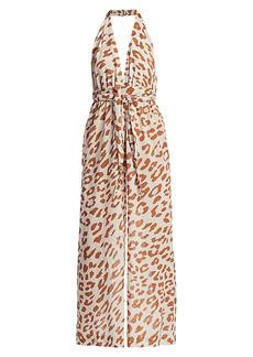 Nanushka Alayna Leopard Print Jumpsuit