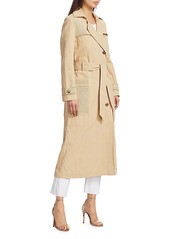 Nanushka Alex Canvas Trench Coat
