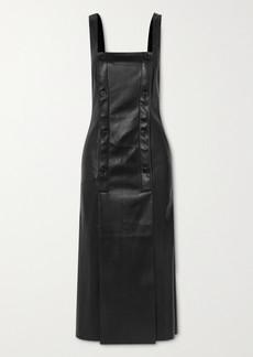 Nanushka Allie Button-detailed Vegan Stretch-leather Dress