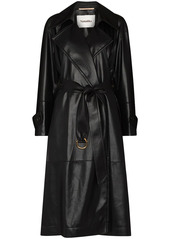 Nanushka Amal faux-leather trench coat