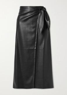 Nanushka Amas Vegan Leather Wrap Skirt