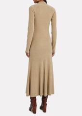 Nanushka Anaira Cut-Out Wool Knit Dress