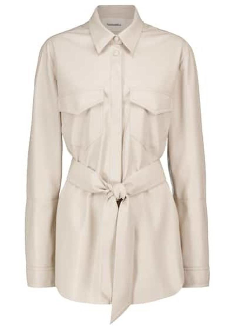 Nanushka Artha belted faux leather jacket