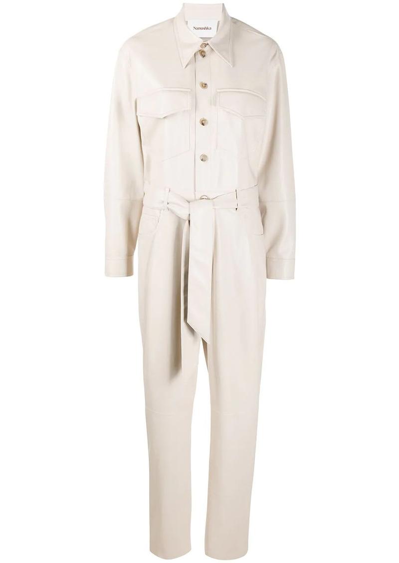 Nanushka Ashton belted jumpsuit