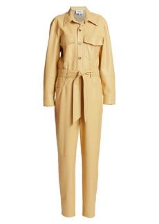 Nanushka Ashton Belted Long-Sleeve Boilersuit