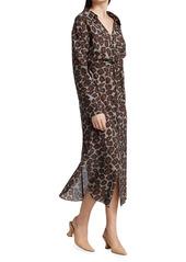 Nanushka Ayse Button Down Midi Dress