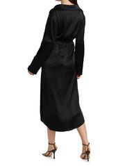 Nanushka Ayse Satin Shirtdress Dress