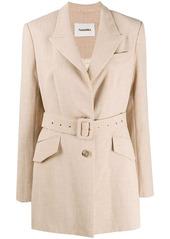 Nanushka belted blazer jacket