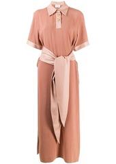 Nanushka Leila fabric block polo dress