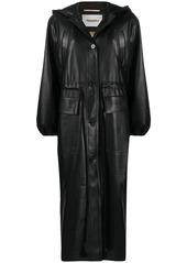 Nanushka belted single-breasted coat