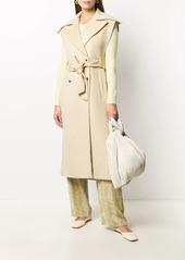 Nanushka belted sleeveless trench coat