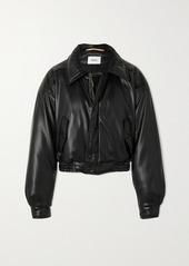 Nanushka Bomi Vegan Leather Bomber Jacket