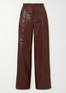 Nanushka Cleo Vegan Stretch-leather Wide-leg Pants