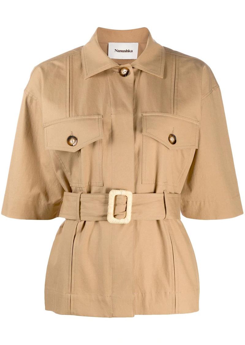 Nanushka Daino belted jacket