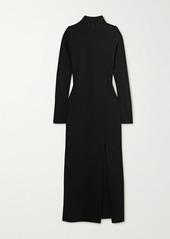 Nanushka Elin Open-back Stretch-knit Midi Dress