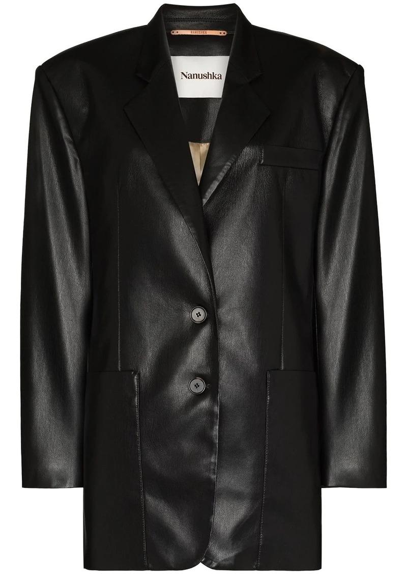Nanushka matte single-breasted blazer