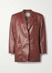 Nanushka Evan Vegan Leather Blazer
