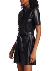 Nanushka Halli Short-Sleeve Vegan Shirt Dress