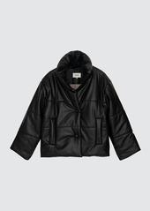 Nanushka Hide Vegan Leather Puffer Jacket - L - Also in: S, M, XS