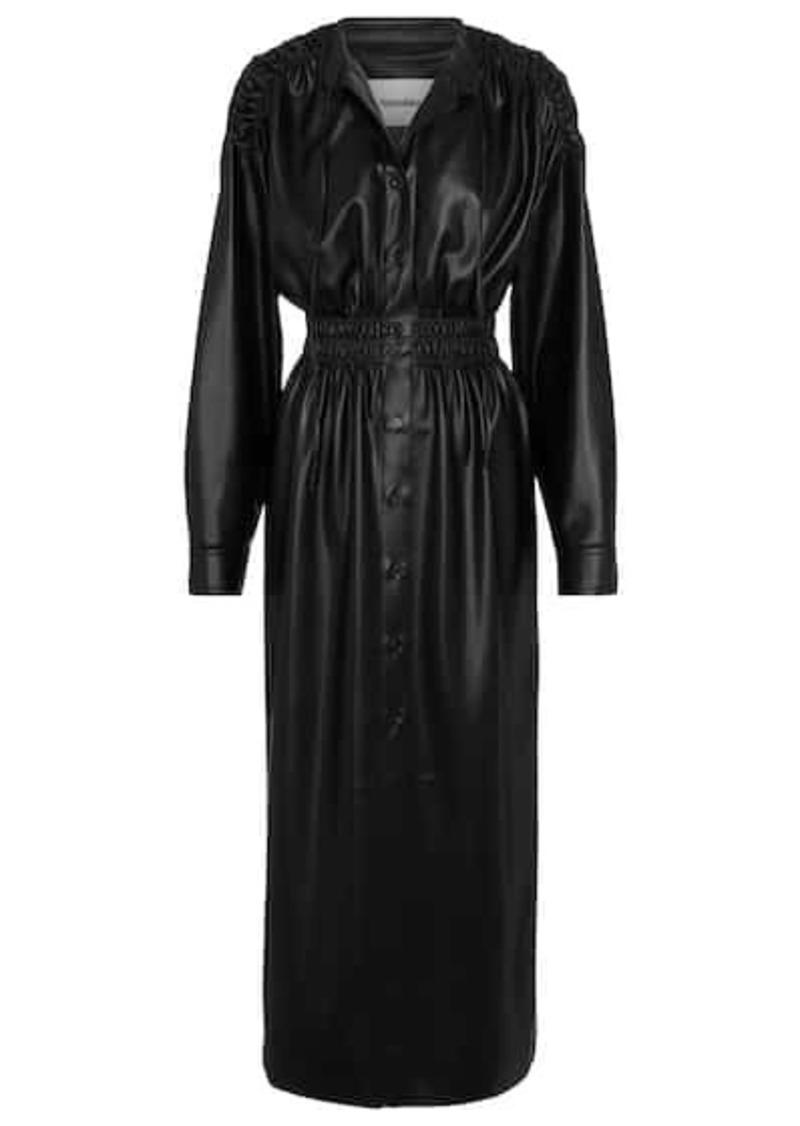 Nanushka Jayce faux leather midi dress