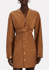 Nanushka Johanna Poplin Button-Down Dress