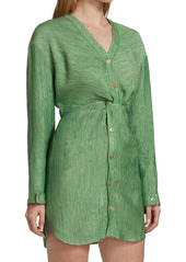 Nanushka Johanna Twist Shirtdress