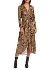 Nanushka Kemper Print Chiffon Wrap Dress