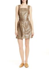 Nanushka Lorena Snake Print Faux Leather Dress