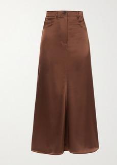 Nanushka Magnolia Satin Midi Skirt