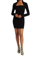 Nanushka Maria Long-Sleeve Mini Dress