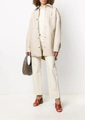Nanushka Martin leather shirt jacket